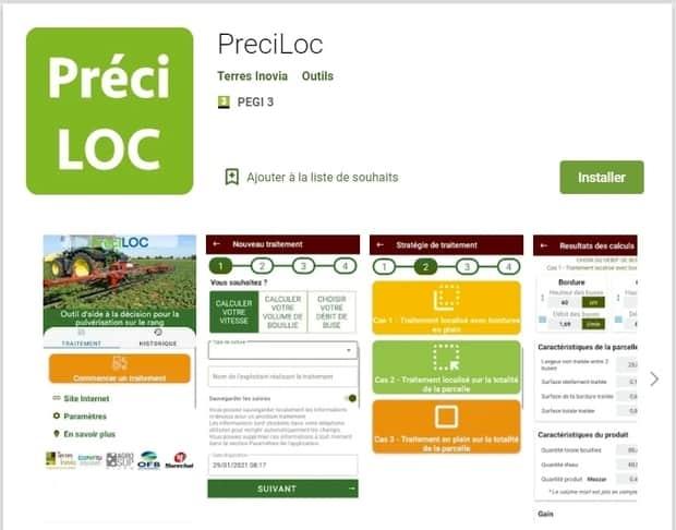 OAD PreciLOC désherbage localisé Terres Inovia