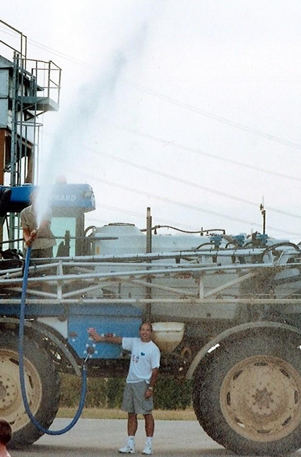 feux de champs, pulvé réserve d'eau