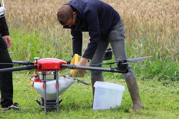 semis de couverts végétaux par drone
