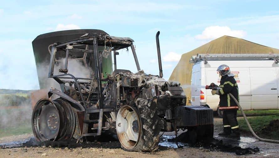 incendies de tracteur