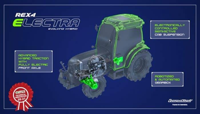 tracteur landini rex4 electra