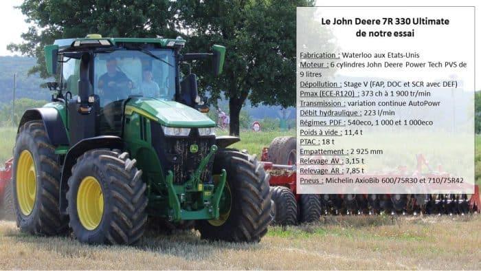 essai tracteur John Deere 7R 330