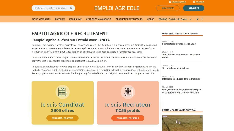 Emploi agricole anefa bourse de l'emploi