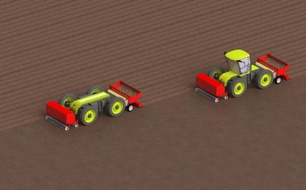 tracteur hybride H2Trac EOX-175 mode maître esclave