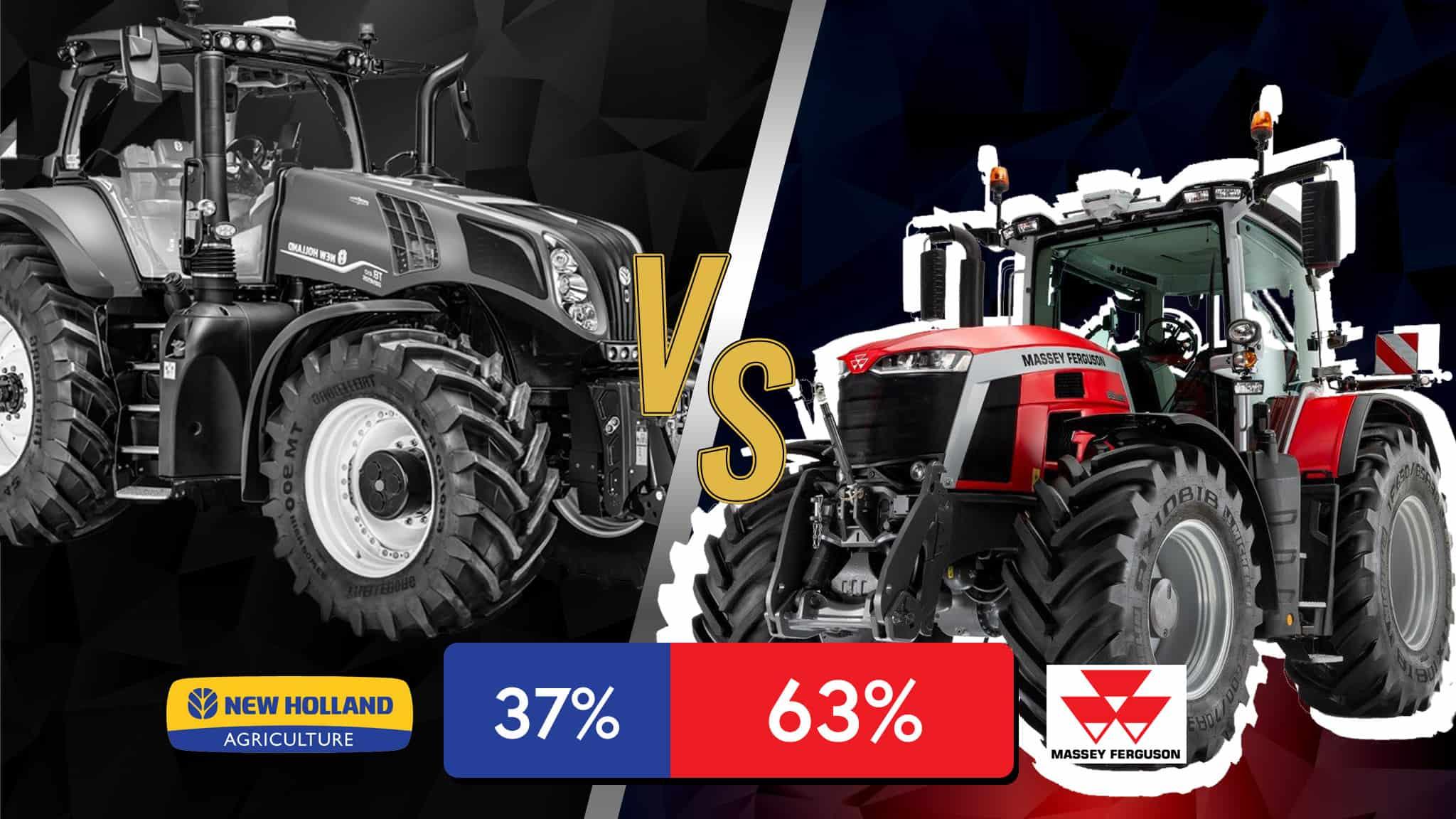 massey ferguson victoire contre new holland tracteur battle