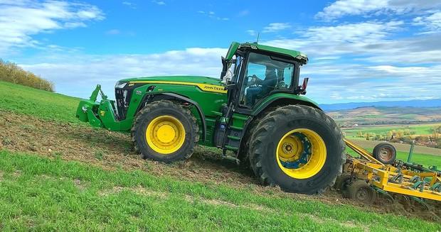 essai michelin john deere tracteur 8R