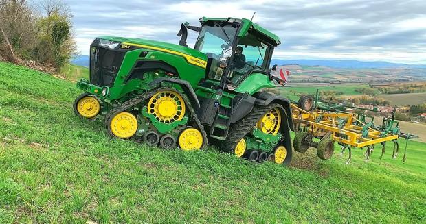 essai michelin john deere tracteur 8RX