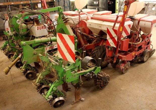 combiné de semis de maïs strip-till Duro et Kverneland