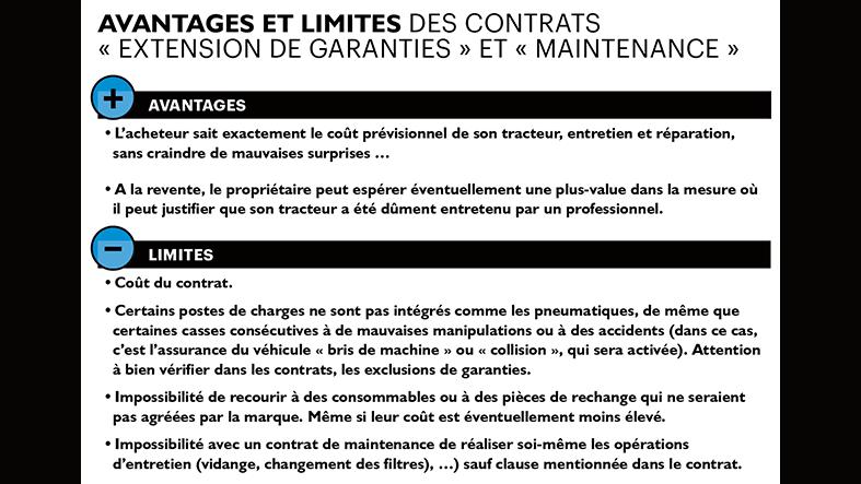 avantages limites contrat extension garantie maintenance
