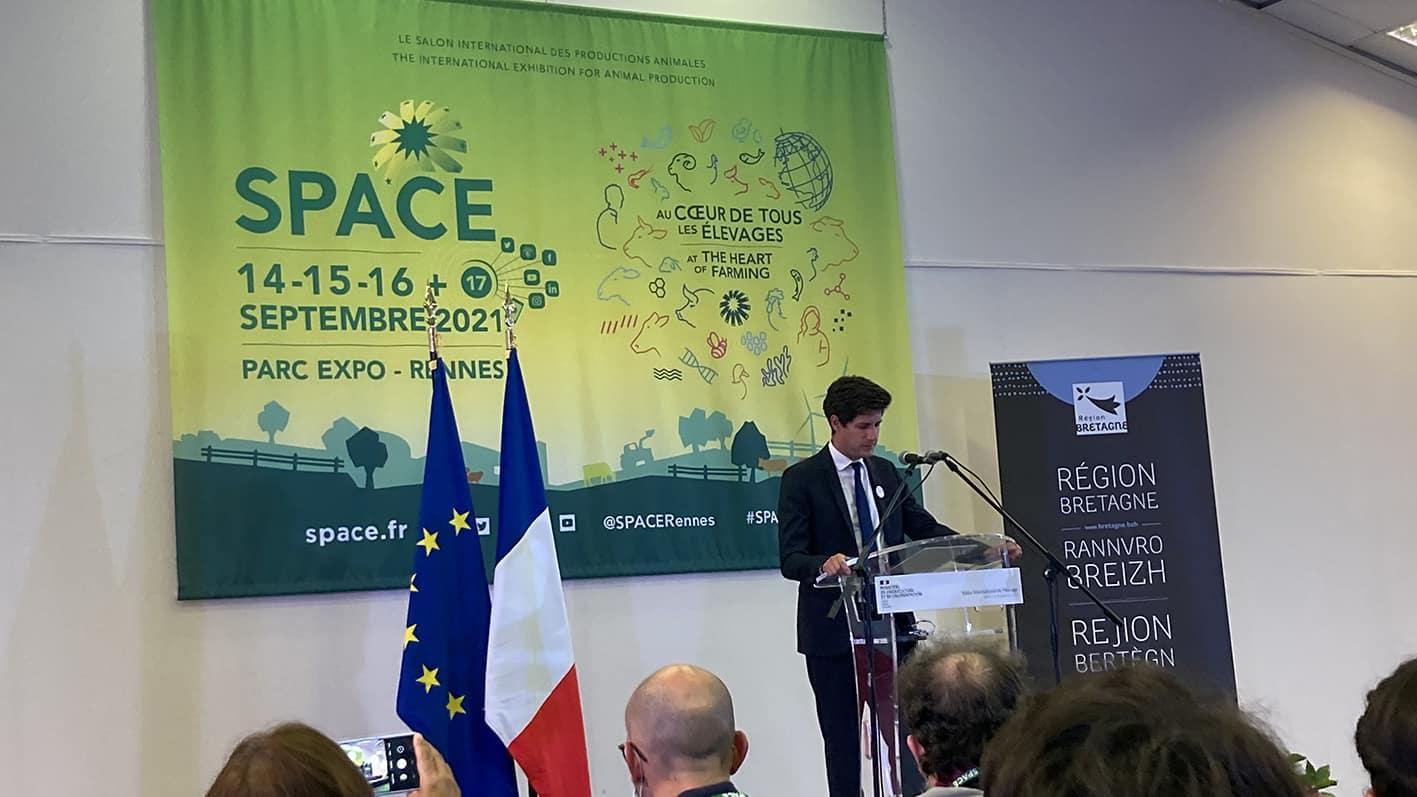 Allocution ministre agriculture Denormandie Space 2021