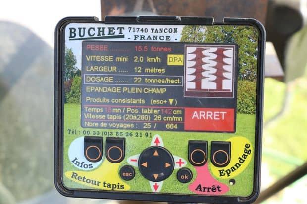 Le boitier de contrôle des épandeurs Buchet est jugé facile à prendre en main par les utilisateurs.