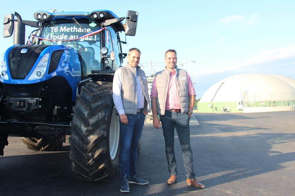 Nicolas et Florent Morel ont reçu leur tracteur 'méthane power'